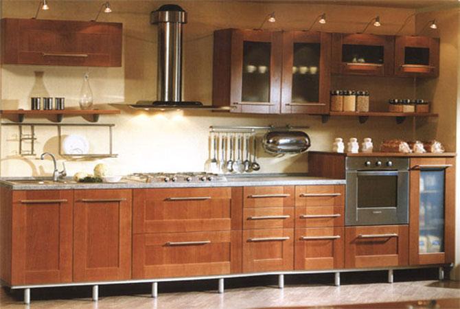 Дизайны узкой кухни