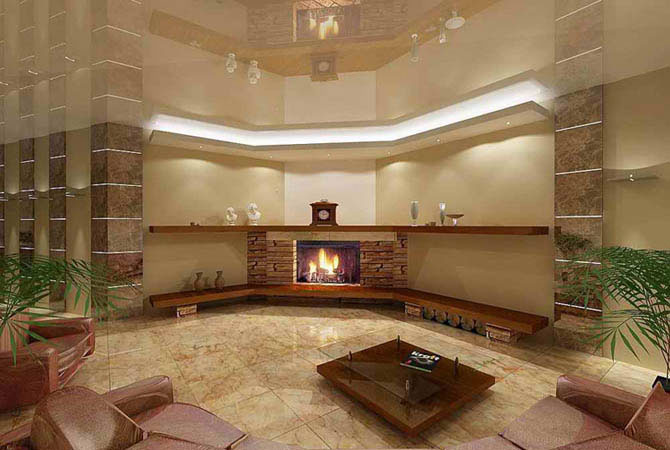 Дизайн гостиной 72