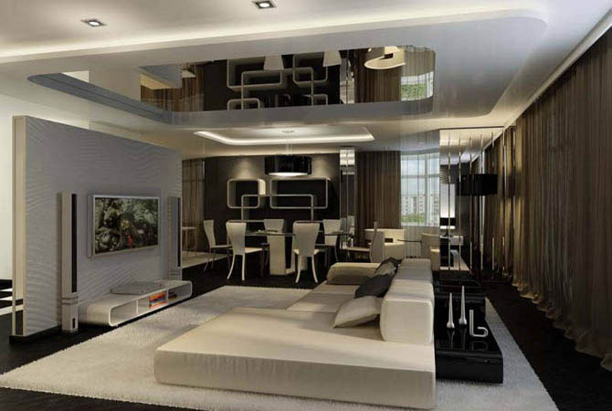 Дизайн интерьера типовой трехкомнатной квартиры