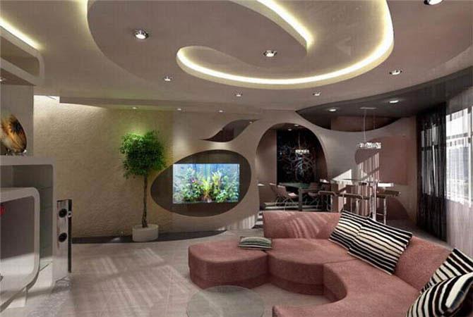 Дизайн комнаты в два окна